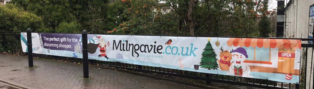 Milngavie.co.uk banner Open For Business 2020