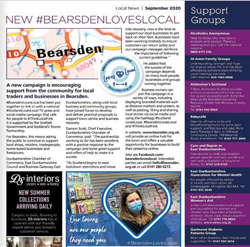 BEARSDEN-Loves Local community magazine Article