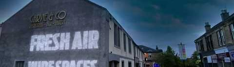 Milngavie Projection Messages #SafeMilngavie